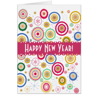 Holiday 2016  Partee ! Colorful Funky Circles Card
