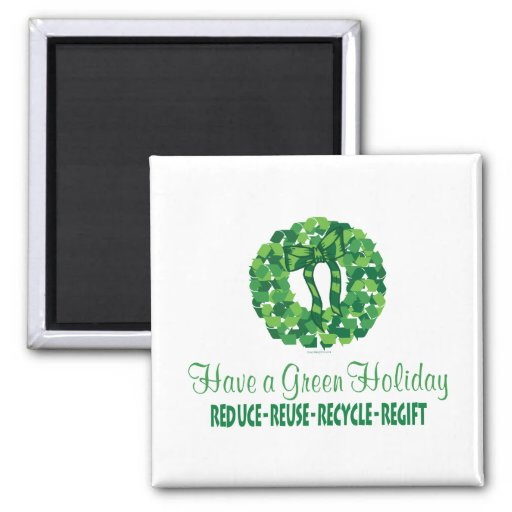 Holiday 2 Inch Square Magnet