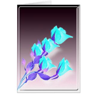 Holiday Abstract Roses Card