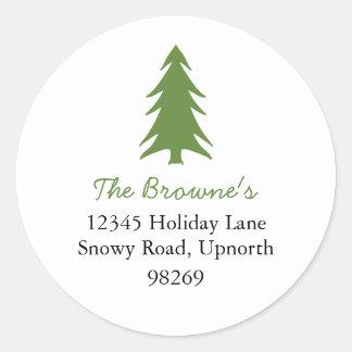holiday address classic round sticker