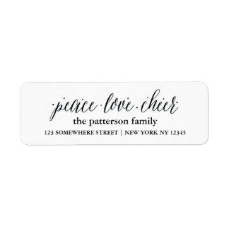 Holiday Address Label Peace Love Joy 1