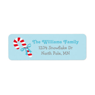 Holiday Address Labels | Candy Cane