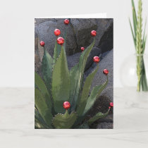 Holiday agave greeting card