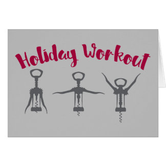 Holiday Alcohol Workout Card
