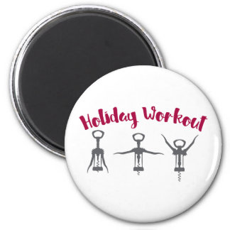 Holiday Alcohol Workout Magnet