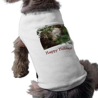 Holiday Alpaca Dog Shirt