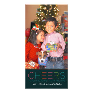 Holiday and Christmas CHEERS card Personalized Photo Card