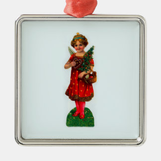 Holiday Angel Metal Ornament