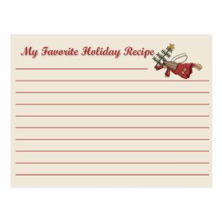 Holiday Angel Recipe Card