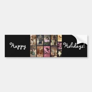 Holiday Angels Bumper Sticker  - Customizable
