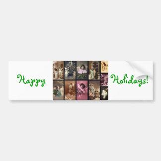 Holiday Angels Bumper Sticker I - Customizable