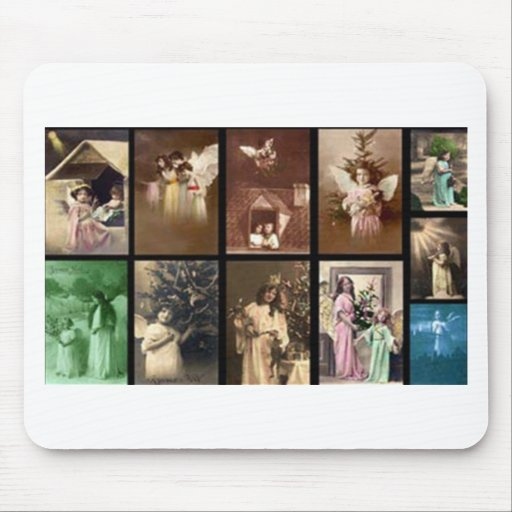 Holiday Angels I Customizable Mouse Mat