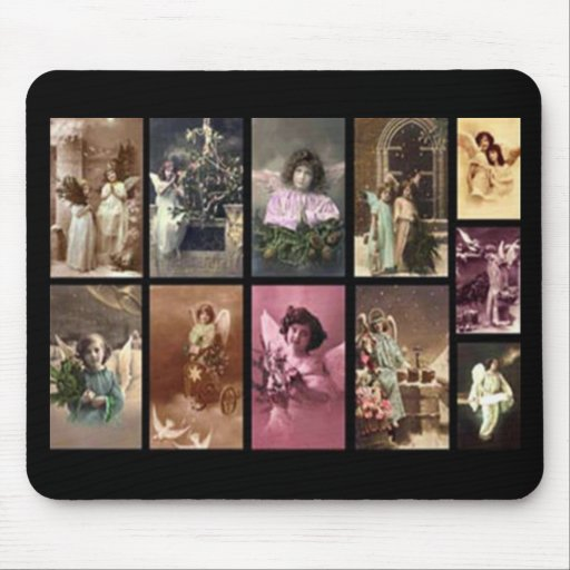 Holiday Angels Mousepad - Customizable Mouse Pads