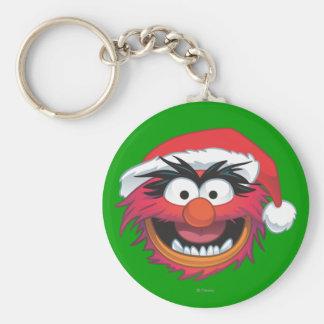 Holiday Animal 2 Basic Round Button Keychain