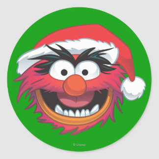 Holiday Animal 2 Classic Round Sticker