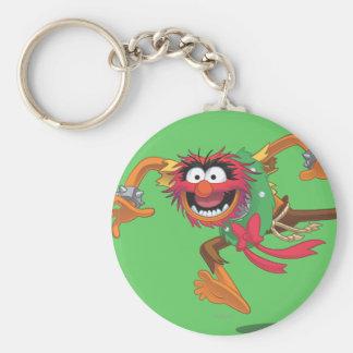 Holiday Animal 3 Basic Round Button Keychain
