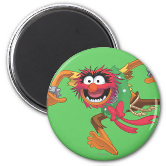 Holiday Animal 3 2 Inch Round Magnet