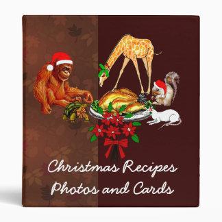 Holiday Animal Cannibals 3 Ring Binder