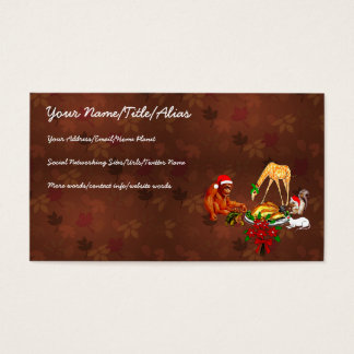 Holiday Animal Cannibals Business Card