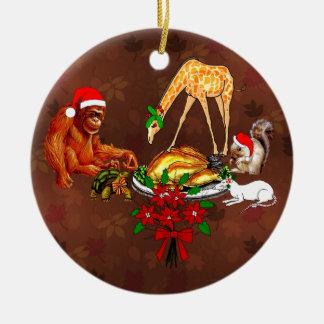 Holiday Animal Cannibals Ceramic Ornament