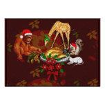 Holiday Animal Cannibals Custom Invitations