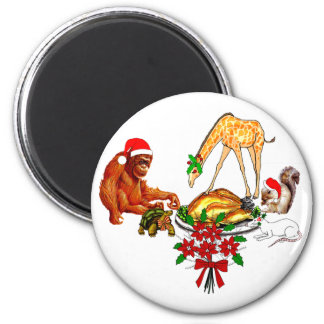 Holiday Animal Cannibals Magnet