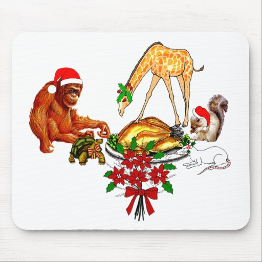 Holiday Animal Cannibals Mouse Pad