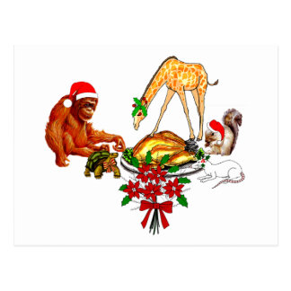 Holiday Animal Cannibals Postcard