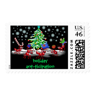 holiday ant-ticipation postage stamp