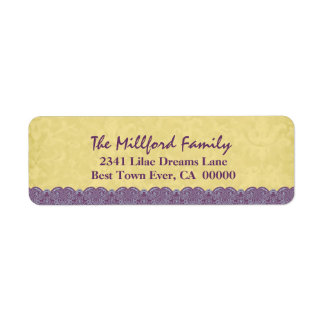 Holiday Antique Gold Colored Printed Lace Family Label
