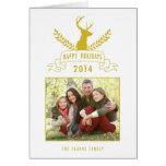 Holiday Antlers   Holiday Photo Greeting Card