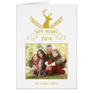 Holiday Antlers | Holiday Photo Greeting Card
