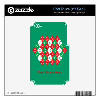Holiday Argyle iPod Touch 4G Skins