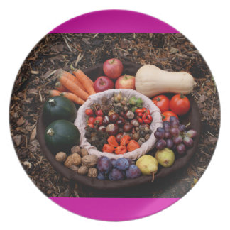 Holiday Assortment Autumn Design Plate