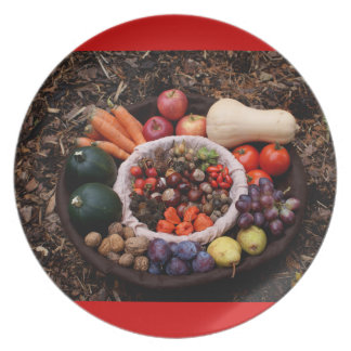 Holiday Assortment Thanksgiving Design Plate