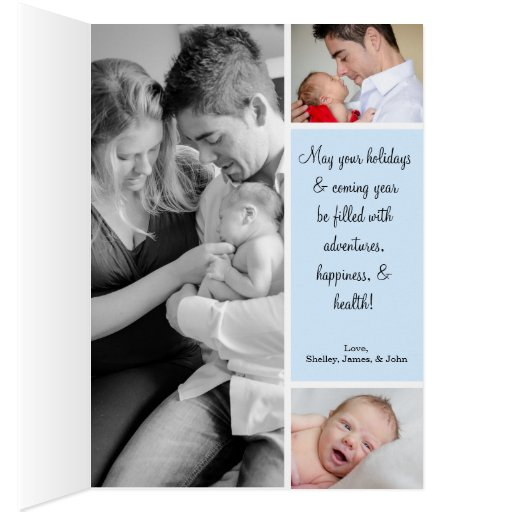 Holiday Baby Announcements Cards