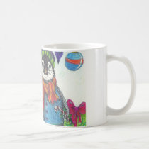 Holiday baby penguin coffee mug