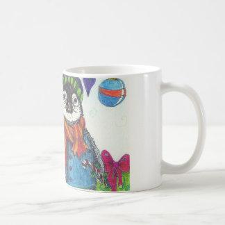 Holiday baby penguin coffee mug