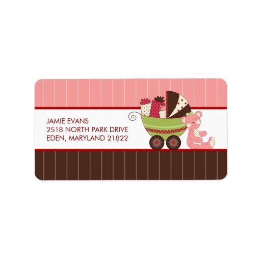 Holiday baby shower address mailing labels zazzle