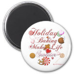 Holiday Baking 2 Inch Round Magnet