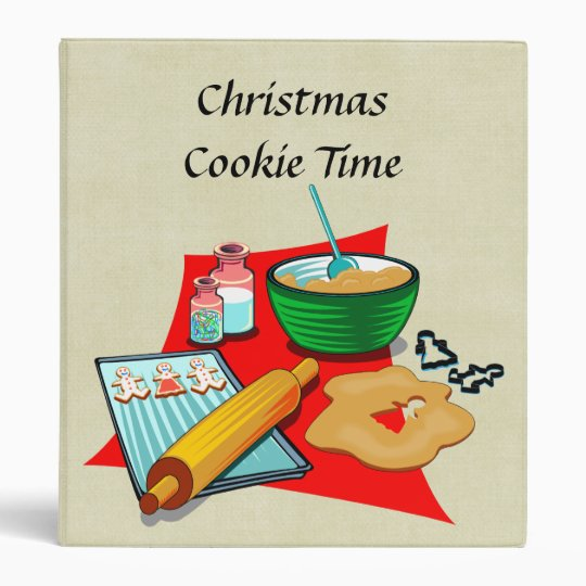 Holiday Baking Christmas Cookies Ingredients Baker Binder