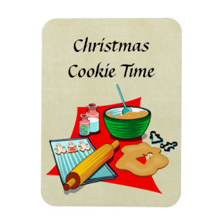 Holiday Baking Christmas Cookies Ingredients Baker Magnet