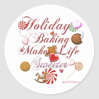 Holiday Baking Classic Round Sticker