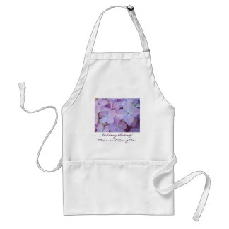 Holiday Baking! Mom and Daughter Puple Hydrangeas Apron