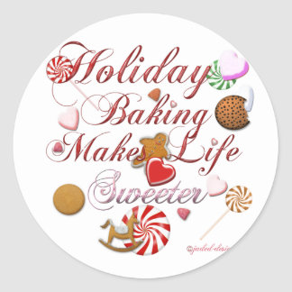 Holiday Baking Stickers