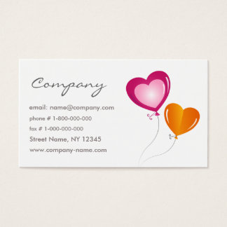 Holiday Balloons Business Card