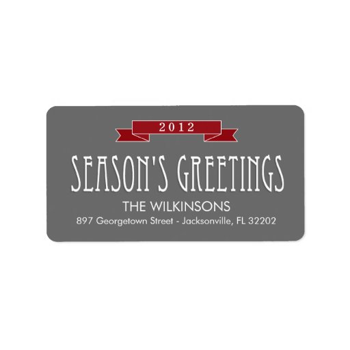 Holiday Banner Holiday Address Labels Labels