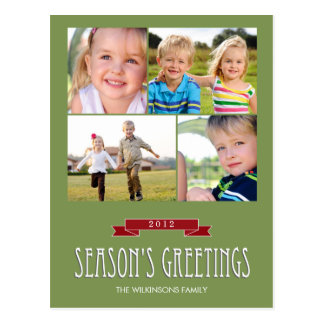 Holiday Banner Holiday Photo Card Postcard