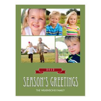 Holiday Banner Holiday Photo Card Postcard Postcards