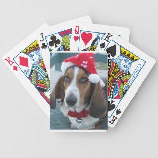 Holiday Basset Santa Christmas Playing Cards